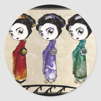 Little Geisha Classic Round Sticker