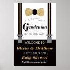 Little Gentleman Welcome Sign Poster, Baby Shower