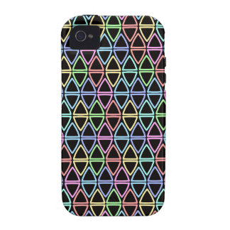 Little Geometric Triangles Pattern Vibe iPhone 4 Cases