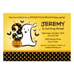 Little Ghost 3rd Birthday Personalised Invite