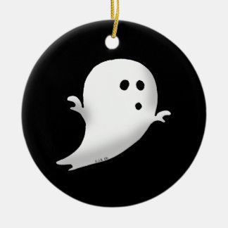 Little ghost christmas ornament