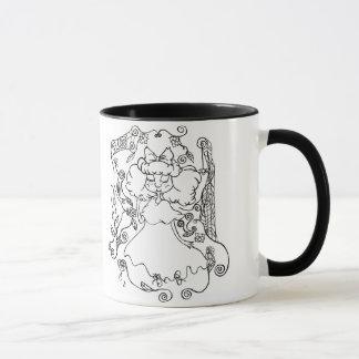 Little Ghost Girl- in Black Mug