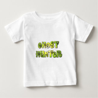 little ghost hunter skull t shirt green and grey