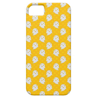 Little Ghost Pattern on Yellow Polka Dots