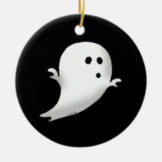 Little ghost round ceramic decoration