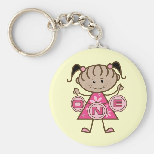 Little Girl 1st Birthday T-shirts and Gifts Key Chain