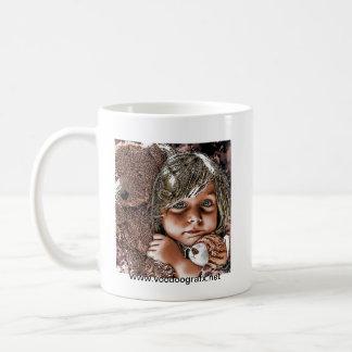 little girl and her teddies coffee mug