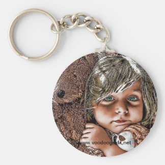 little girl and her teddies key ring