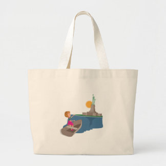 little girl and the statue of liberty bag