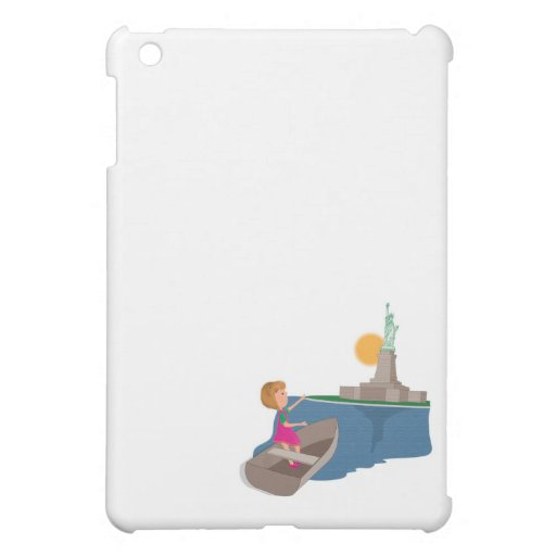 little girl and the statue of liberty iPad mini cover