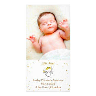 Little Girl Angel, Gold Dust, Photo Announcement Photo Cards