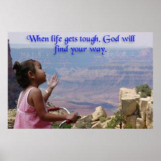 Little Girl Asks God Poster