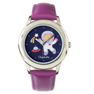Little Girl Astronaut Personalized Wrist Watch