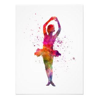 Little girl ballerina ballet to dancer dancing art photo
