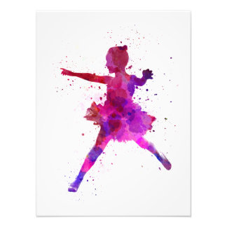Little girl ballerina ballet to dancer dancing photographic print