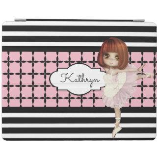 Little Girl Ballerina w/Modern Patterns iPad Cover