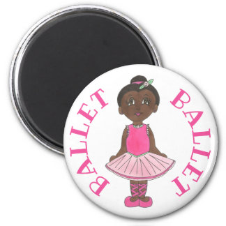Little Girl Ballet Dancer Ballerina Pink Rose Tutu Magnet