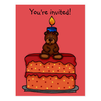 little girl birthday party invitation postcard