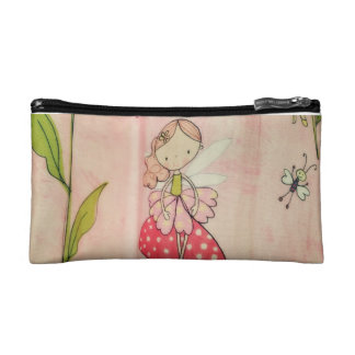 Little Girl & Butterfly  Small Cosmetic Bag