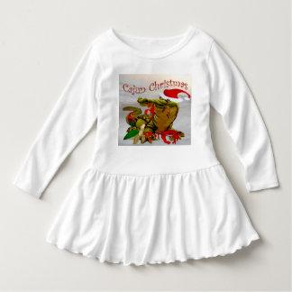little girl  cajun santa christmas dress