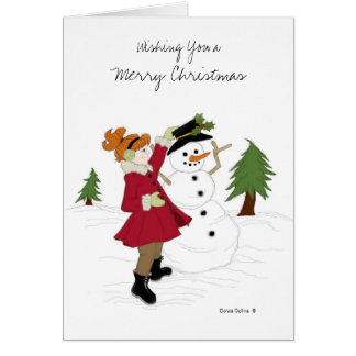 Little Girl Christmas Card