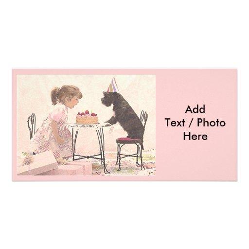 Little Girl & Dog Celelbration