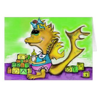 Little Girl Dragon Greeting Card