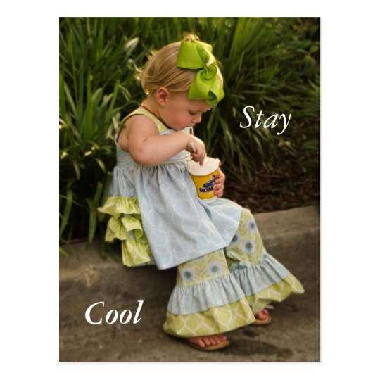 Little Girl Eating Icecream Postcard