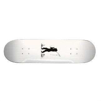 Little Girl Fishing Silhouette Skate Boards