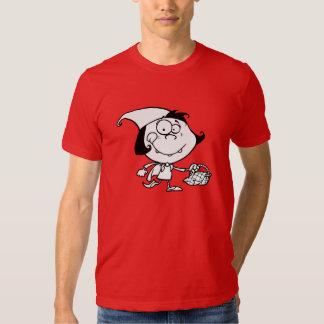 Little Girl Going On A Picnic Mens T-Shirt