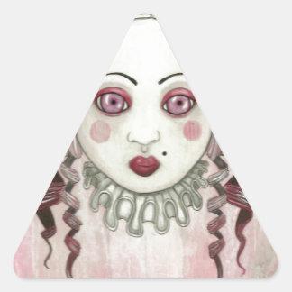 Little girl Head.jpg Triangle Sticker