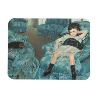 Little Girl in a Blue Armchair, 1878 (oi Rectangular Photo Magnet
