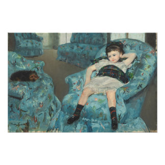 Little Girl in a Blue Armchair, 1878 (oi