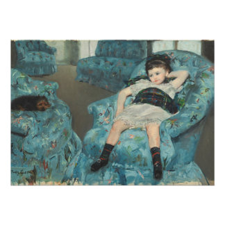 Little Girl in a Blue Armchair, 1878 (oi Poster