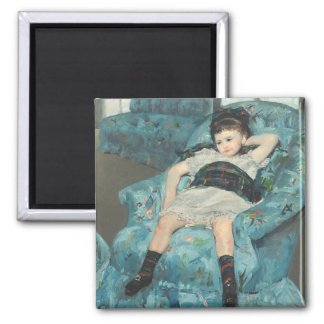 Little Girl in a Blue Armchair, 1878 (oi Square Magnet