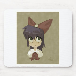 Little Girl in a Bow Mousepads