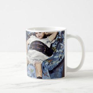Little Girl In Blue Armchair By Cassatt Mary (Best Mug