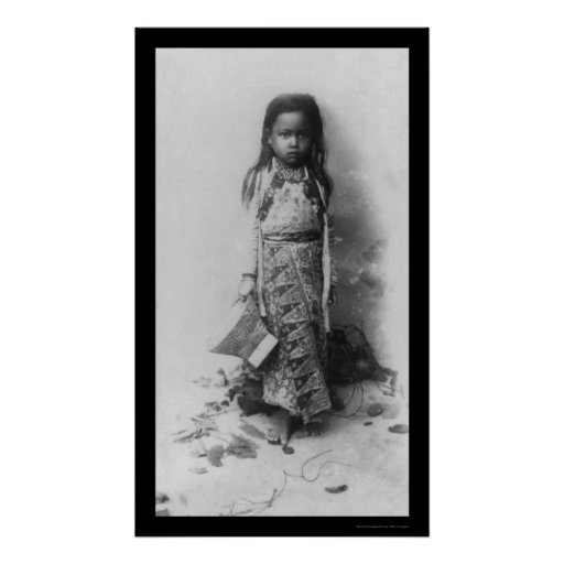 Little Girl in Java, Indonesia 1898 Poster