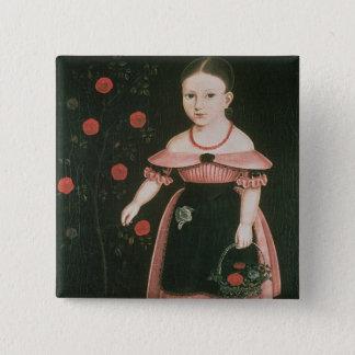 Little Girl in Lavender, c.1840 15 Cm Square Badge