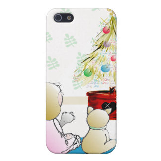 Little Girl in Nightgown Christmas Eve iPhone 5 Cases