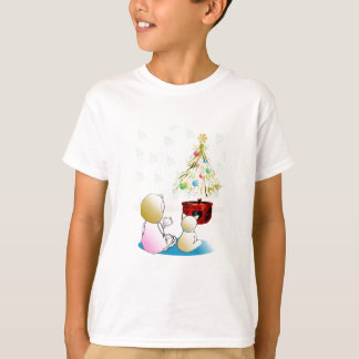 Little Girl in Nightgown Christmas Eve Tshirt