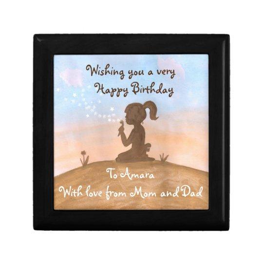 Little girl in Sunset gift box