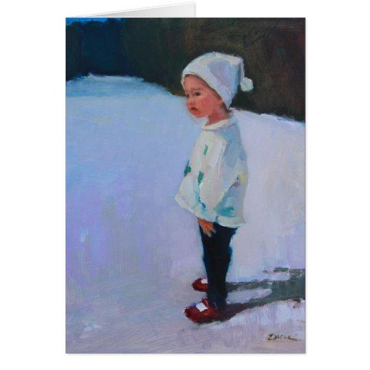 Little Girl Leder Card