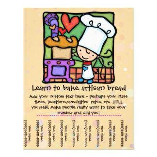 Little Girl loves teaching baking class tear sheet 21.5 Cm X 28 Cm Flyer