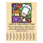 Little Girl loves teaching baking class tear sheet Flyer Design