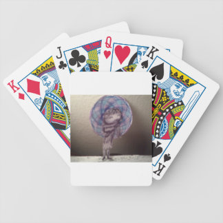Little Girl mobster Playing Cards