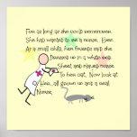 """""""Little Girl Nurse""""  Story Art Print--Frameable Poster"""