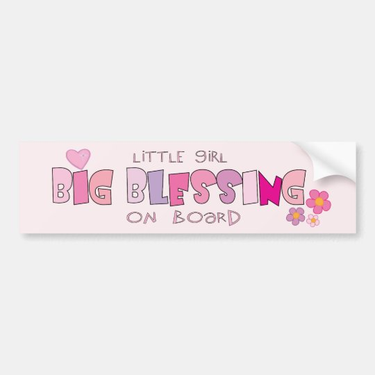 Little Girl ... on board Christian bumper sticker