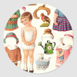 Little Girl Paper Doll Stickers