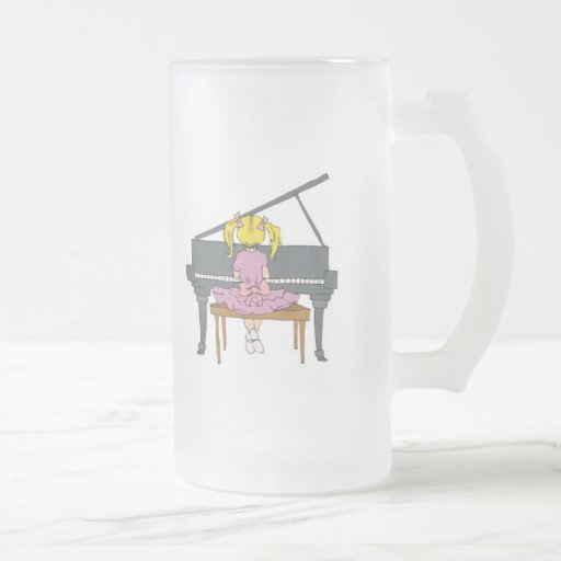 little girl playing piano mugs